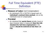full time equivalent fte definition