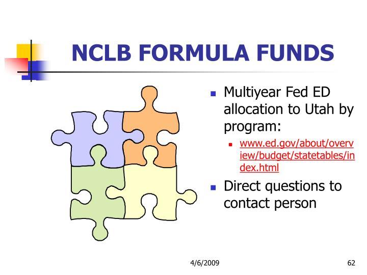 NCLB FORMULA FUNDS
