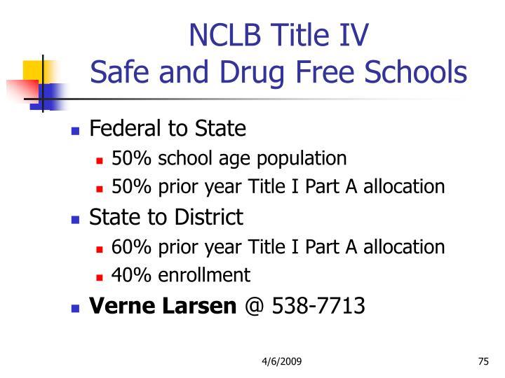 NCLB Title IV