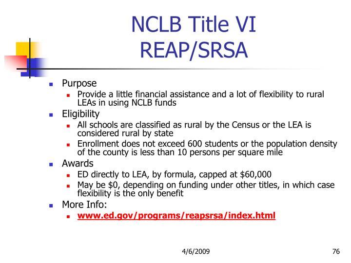 NCLB Title VI