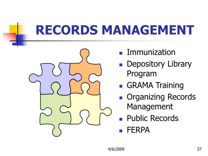 RECORDS MANAGEMENT