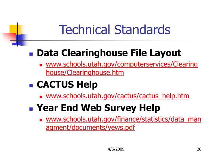 Technical Standards
