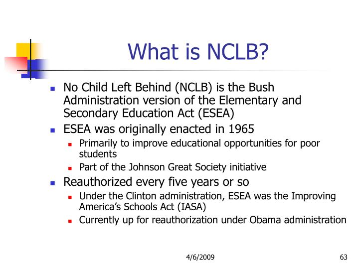 What is NCLB?