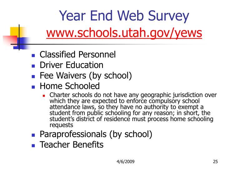 Year End Web Survey