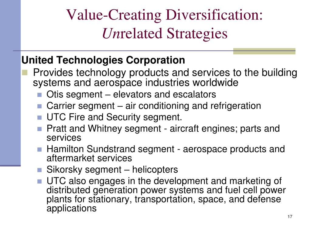 Corporate Level Strategy: Creating Value through Diversification