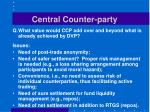 central counter party