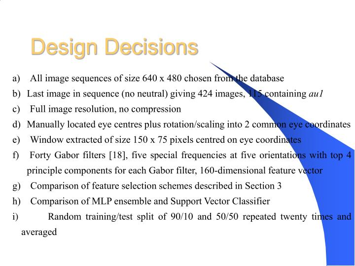 Design Decisions