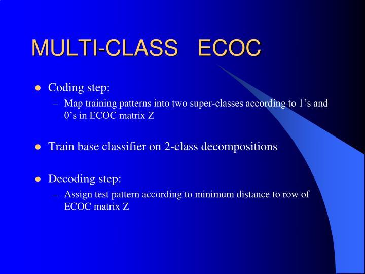 MULTI-CLASS   ECOC