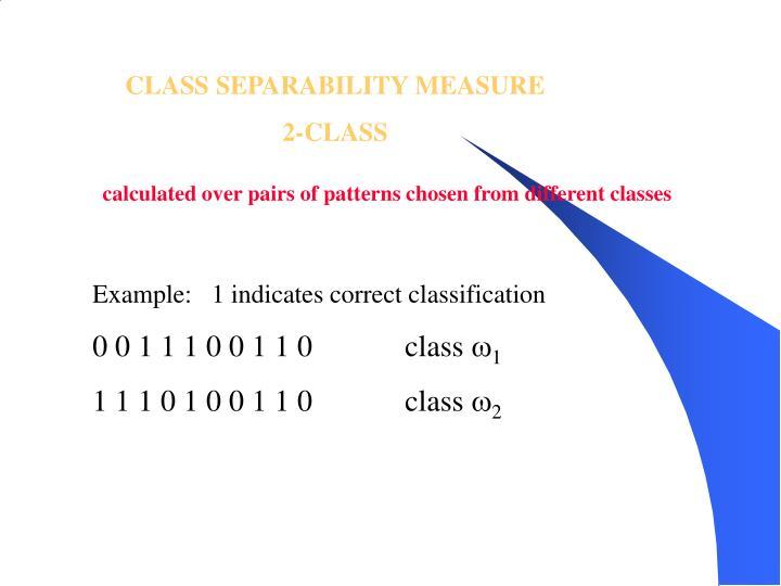 CLASS SEPARABILITY MEASURE