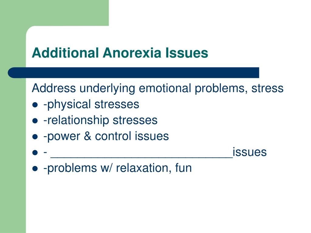Additional Anorexia Issues