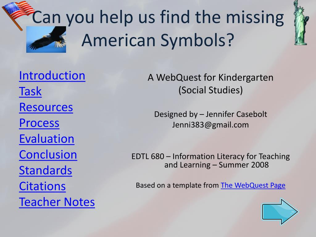 can you help us find the missing american symbols l.