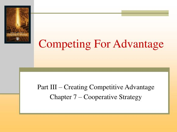 competing for advantage n.