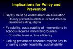 implications for policy and prevention1