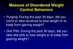 measure of disordered weight control behaviors