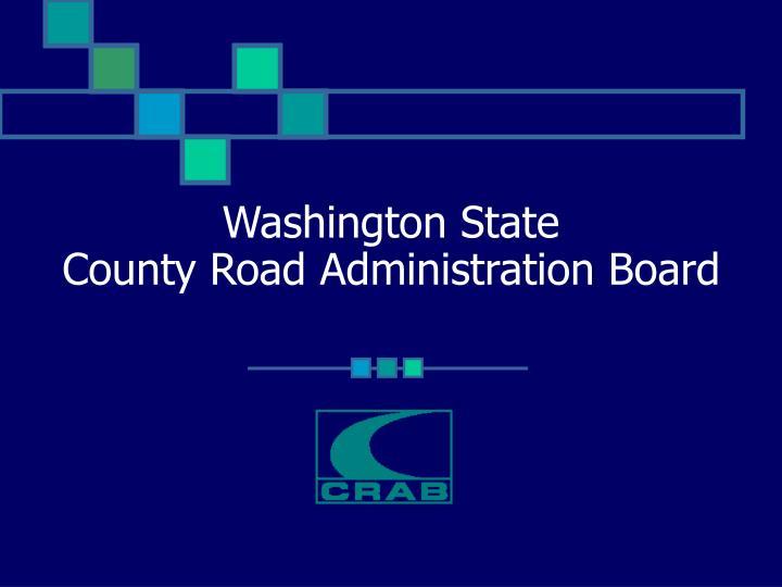 washington state county road administration board n.