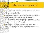 label psychology cont