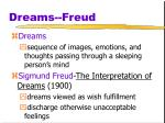 dreams freud