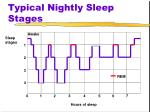 typical nightly sleep stages