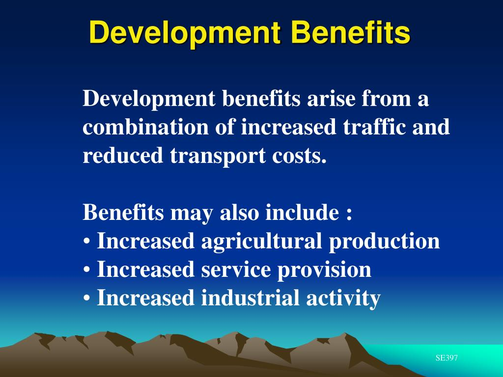 Development Benefits