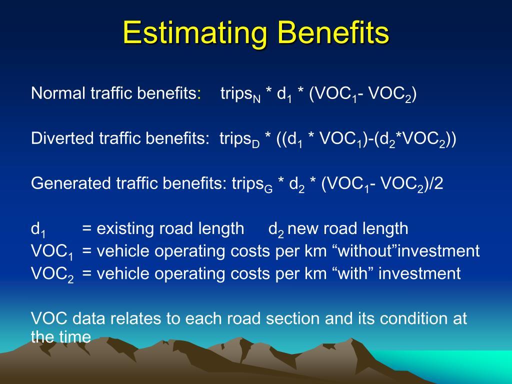 Estimating Benefits