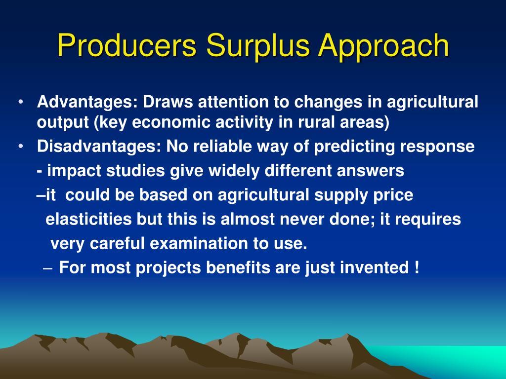 Producers Surplus Approach