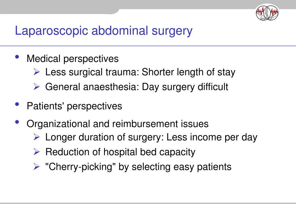 Laparoscopic abdominal surgery