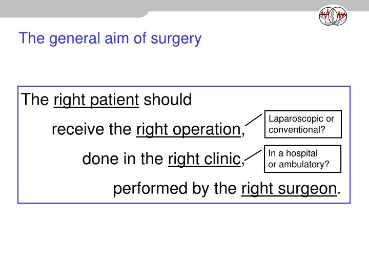 The general aim of surgery