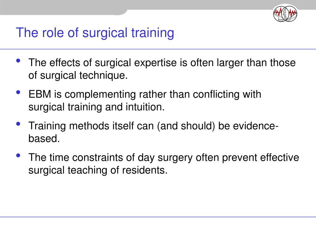 The role of surgical training