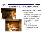 example 40 racks for oxford
