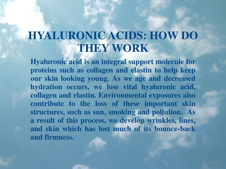 HYALURONIC ACIDS: HOW DO THEY WORK
