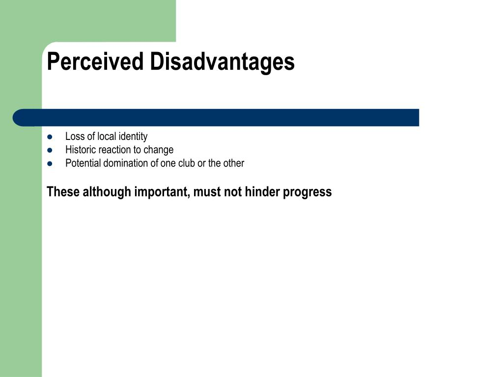 Perceived Disadvantages
