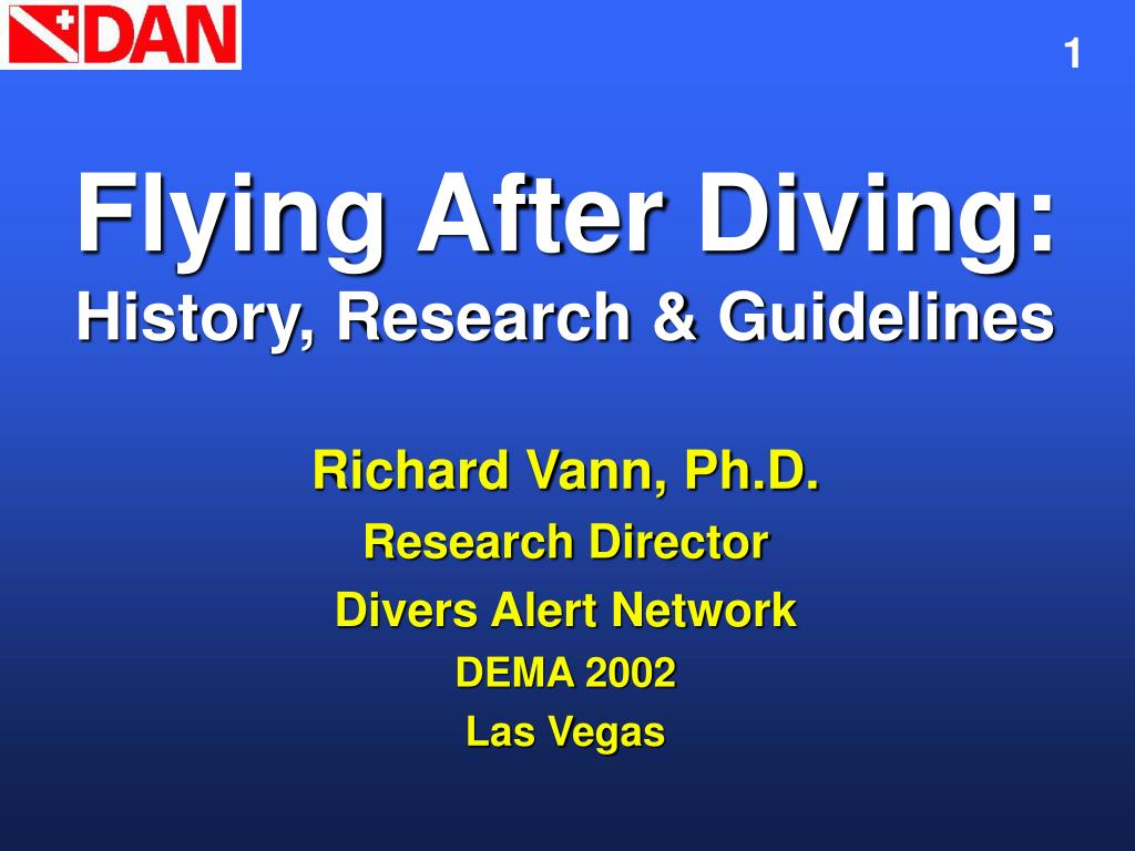 flying after diving history research guidelines l.
