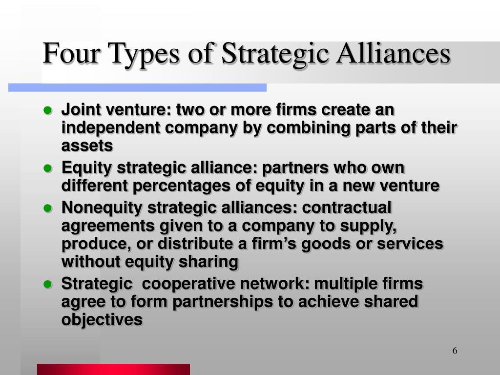 Four Types of Strategic Alliances