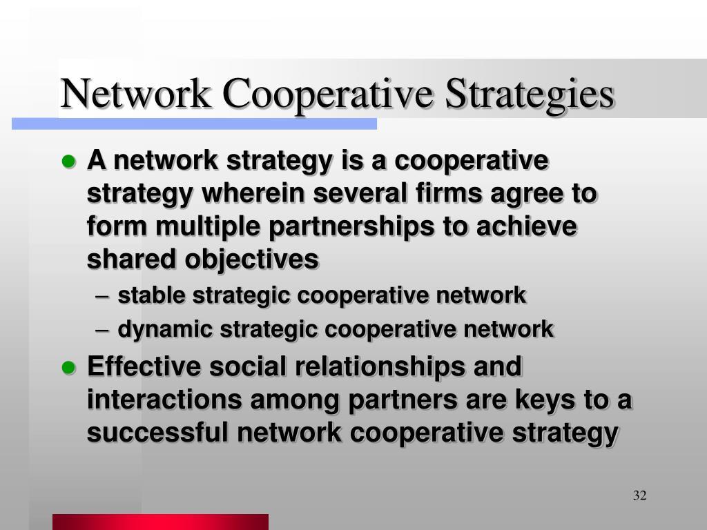 Network Cooperative Strategies