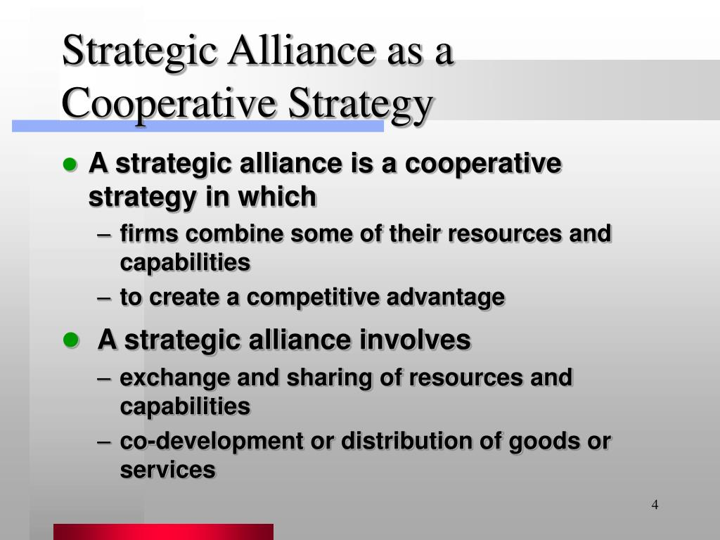 Strategic Alliance as a Cooperative Strategy