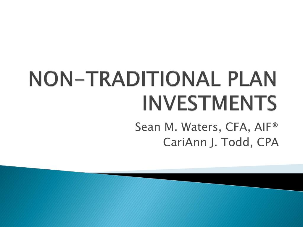non traditional plan investments l.