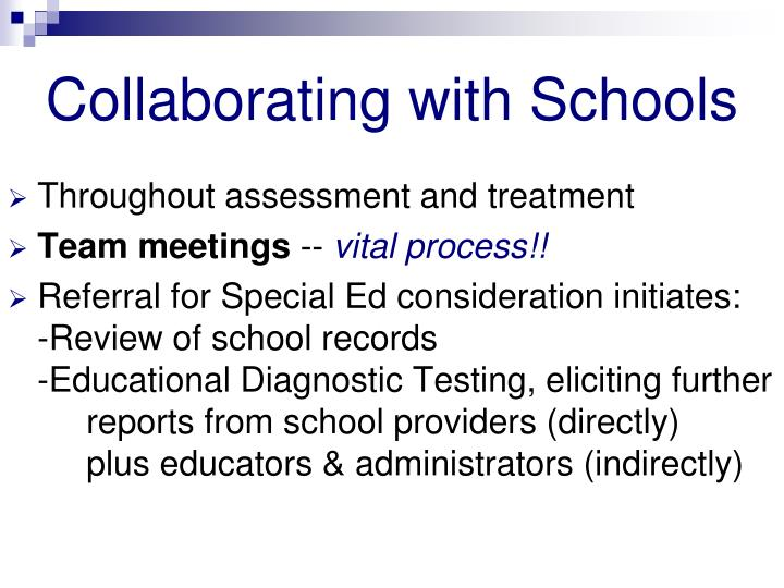 Collaborating with Schools