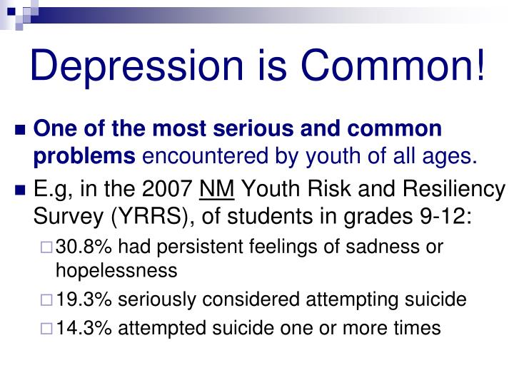 Depression is Common!