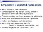 empirically supported approaches