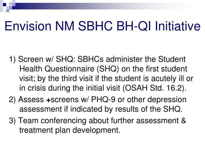 Envision NM SBHC BH-QI Initiative