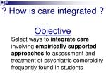 how is care integrated objective