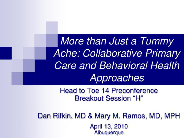 more than just a tummy ache collaborative primary care and behavioral health approaches n.
