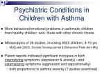 psychiatric conditions in children with asthma