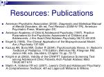 resources publications