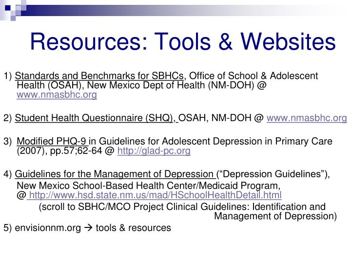 Resources: Tools & Websites