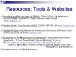 resources tools websites