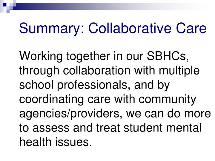 Summary: Collaborative Care