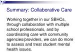 summary collaborative care