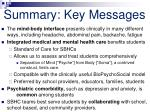 summary key messages