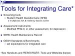 tools for integrating care